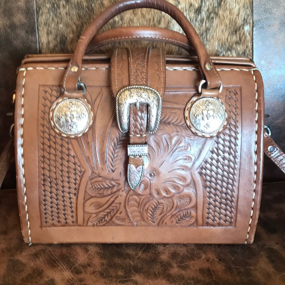 c907237ea51 American West hand tooled doctors satchel purse